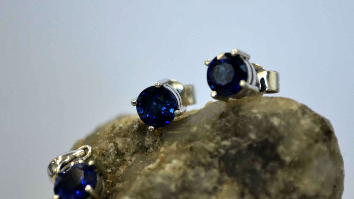 Blue Sapphire Earing and Pendant set